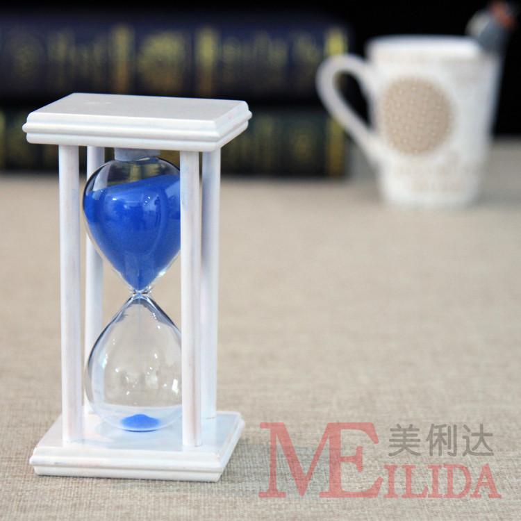 可定制15/20/30/45/60分钟玻璃沙漏 计时器沙漏 木质沙漏计时器