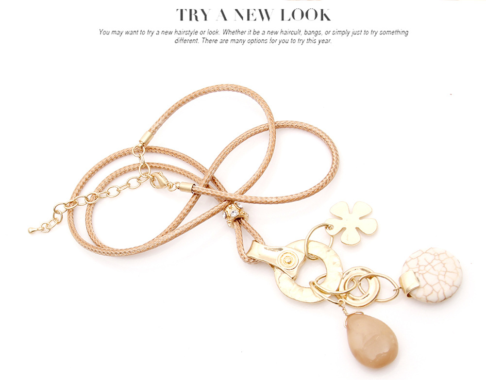Womens tassel plating Fine flower alloy Necklaces XS190419118392