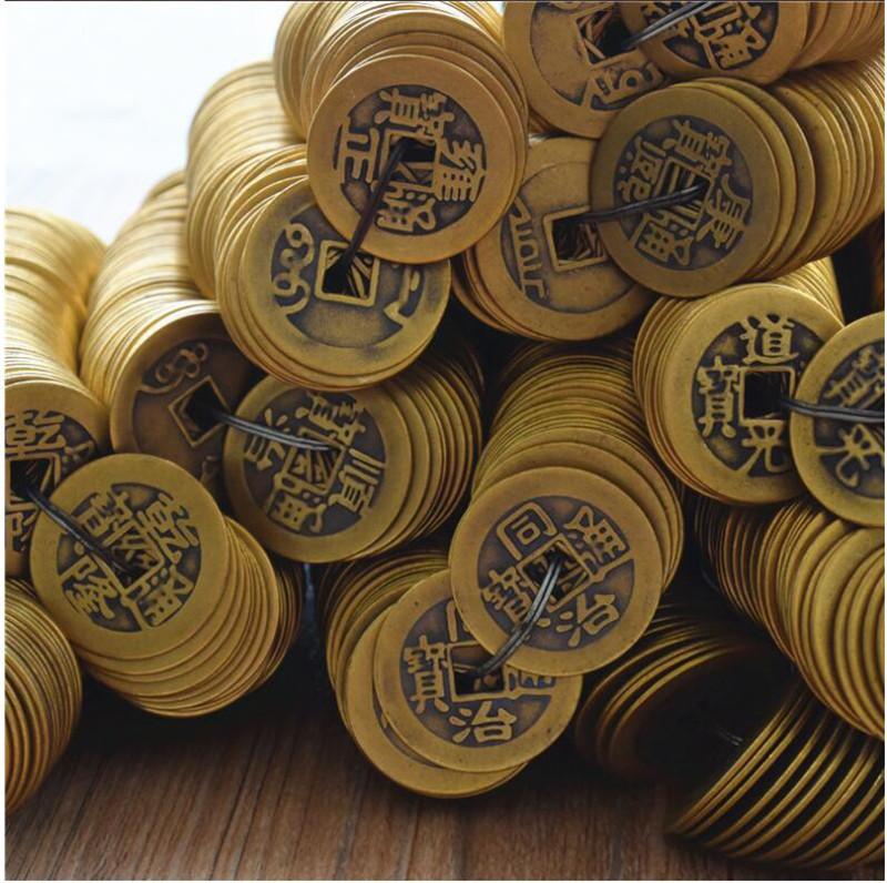 直徑2.4CM仿古銅錢清朝純銅工藝品十帝錢五帝銅錢批發銅幣古錢幣