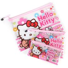 可爱卡爱韩国A4文件袋资料袋拉?#21019;?#31508;袋女创意文具收纳储物挂袋