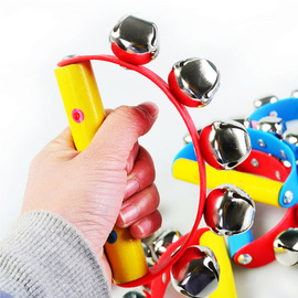 Baby fun toy wooden color semicircular rattle Children's puzzle enlightenment hand rattle toy