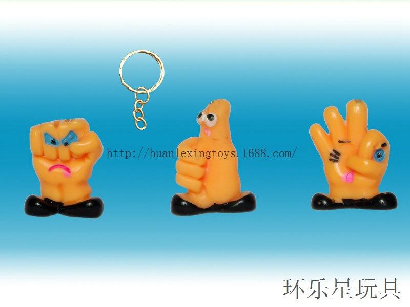 卡通表情小手掌树脂公仔 带钥匙扣手机绳 钥匙手机挂件小赠品玩具