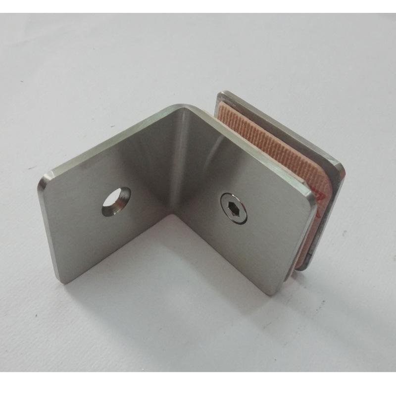 厂家直销玻璃直角夹不锈钢固定夹连接件隔断码角码方形90度紧固夹