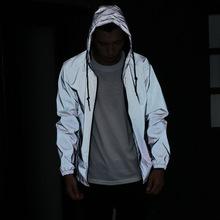 原创2018秋冬季男士风衣青少年学生运动情侣外套网面反光衣班服潮