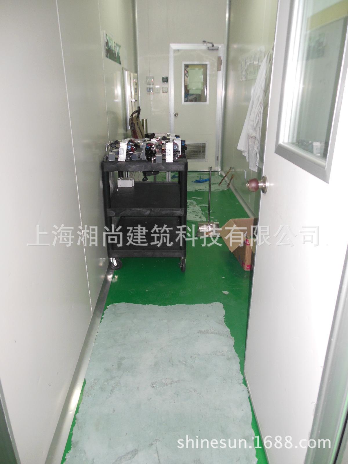 4。IMI诺冠洁净室施工人工铲除破损起壳旧环氧地坪
