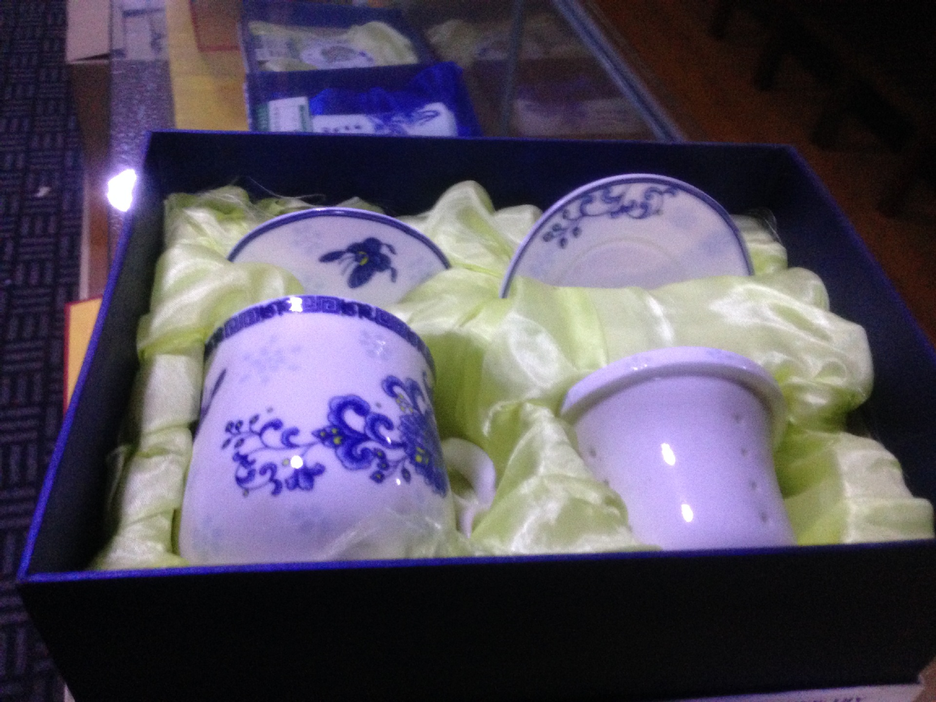 青花瓷花韵茶具高温陶瓷系列