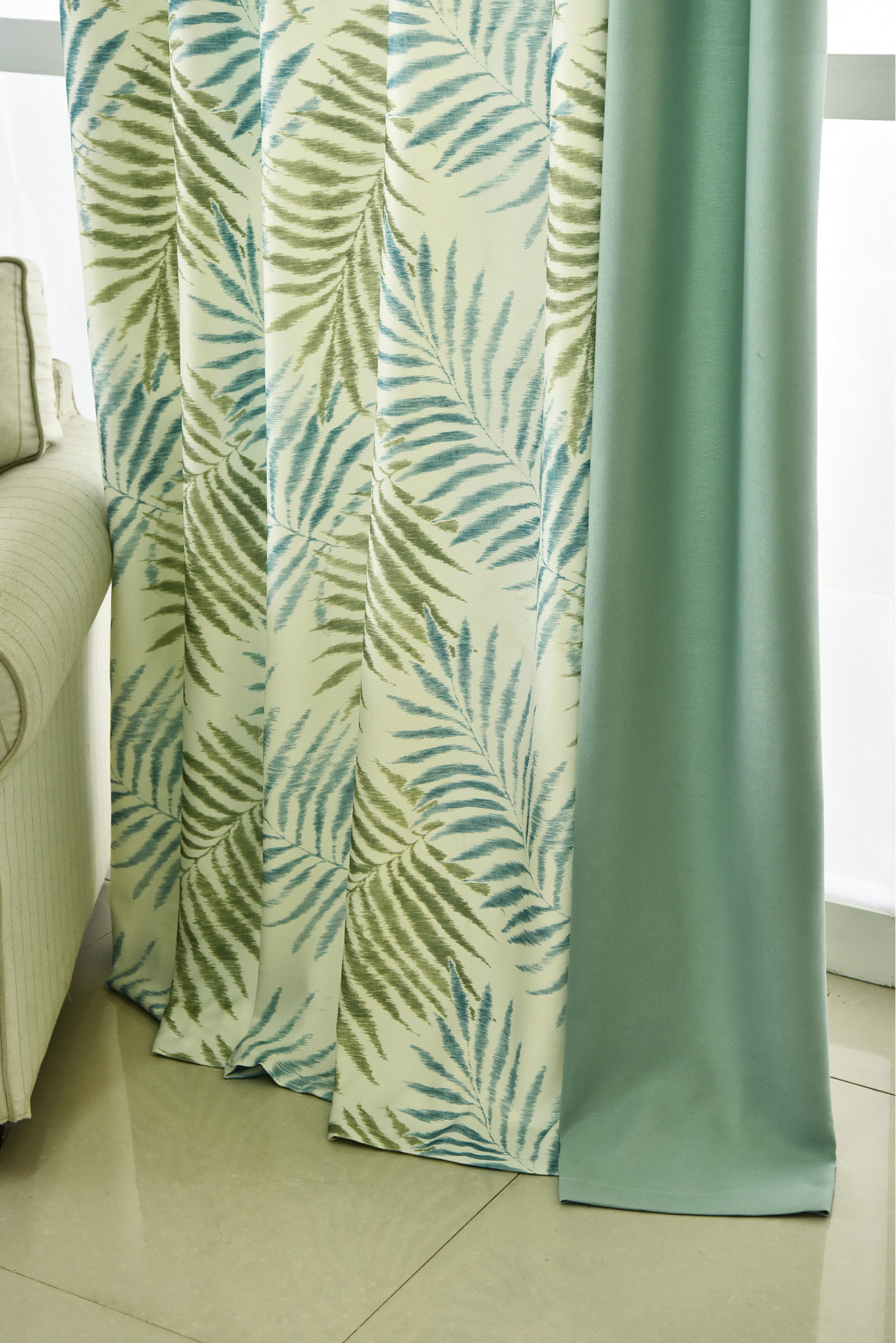 Tropical Fern Leaf Printed Curtains For Living Room Window Treatments Fancy Curtain Tulle For The Bedroom Drapes Decoration Curtains For Curtains For Living Roomthe Curtain Aliexpress