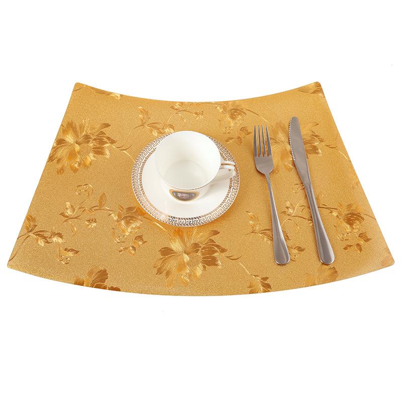 扇形PVC圆桌西餐垫简约塑料餐垫方圆桌防水防烫碗杯垫餐桌垫子