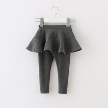 Quần trẻ em mùa đông giả quần hai mảnh đáy quần bé gái cotton cộng quần cashmere Culottes