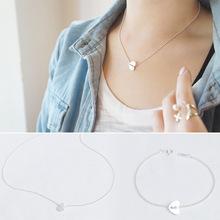 925純銀項鏈 手飾 心形佛珠手鏈 韓國東大門時尚氣質下哦飾品套鏈