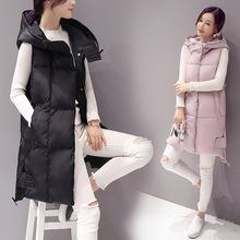 Áo khoác phao nữ thời trang, kiểu dáng gile, thiết kế dáng dài