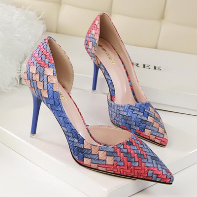 fashion personality color matching shoes high heel's main photo