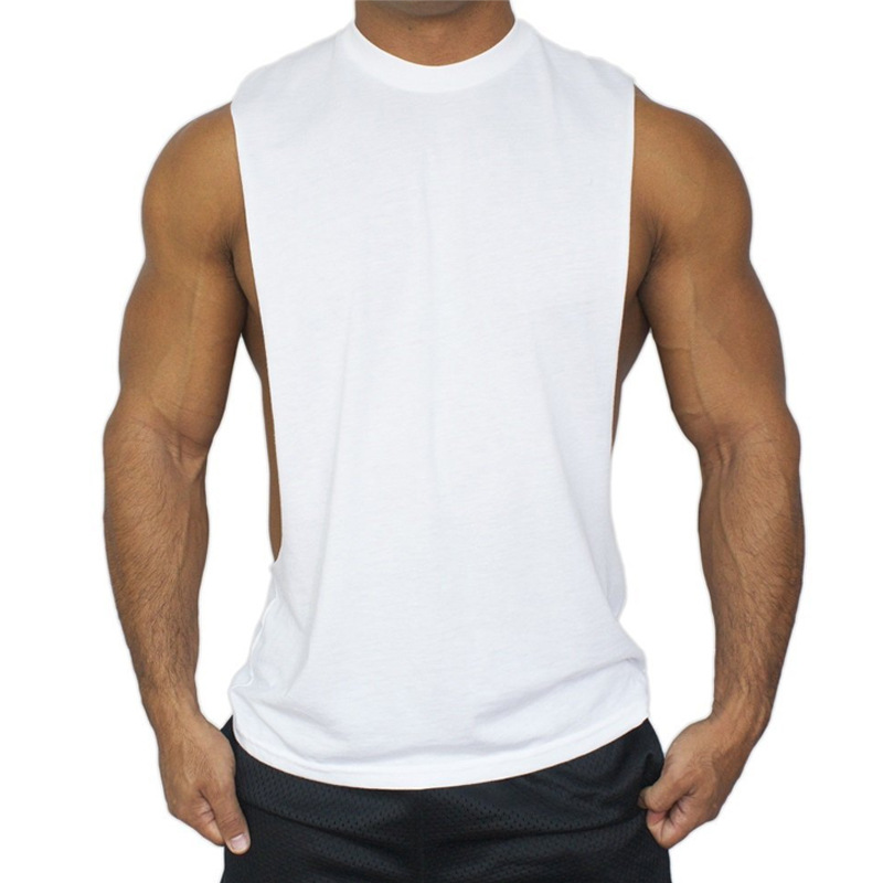 3ae1effe44e629 2019 Wholesale New Summer Plus Size Fitness Men Vest Cotton O Neck Tank  Tops Mens Tank Top Sleeveless Shirt For Mems Bodybuilding Clothing From  Baimu