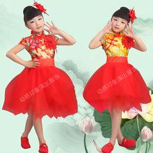 2016新款六一兒童表演服演出服舞臺服裝龍袍中國風蓬蓬公主裙紗裙