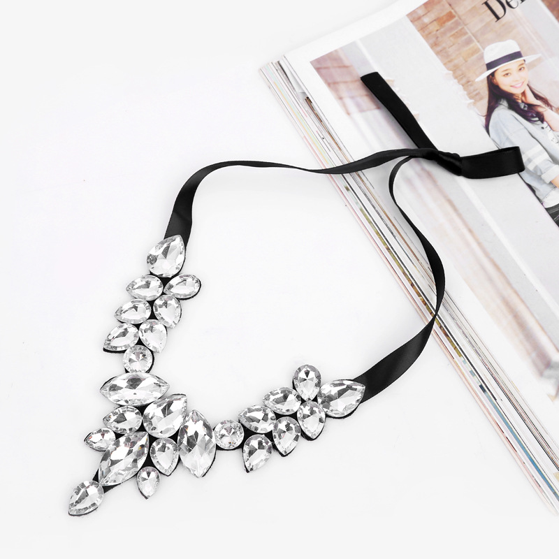 Fashion Crystal&CZnecklace(white)NHGY1634-white
