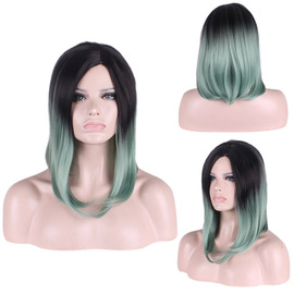 New fashion in the split wave black gradient hot sale in the long hair  speed sale source