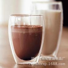 耐热玻璃茶具双层隔热玻璃杯/泡茶杯蛋形杯350ml