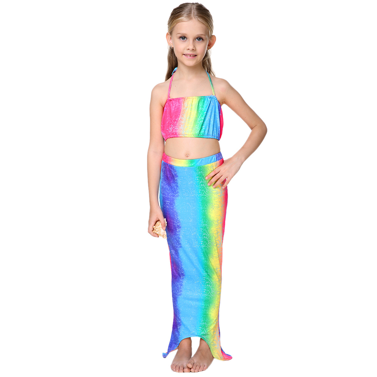 ec73b42bdb 2019 10 Styles New Girls Bikini Kids Swimwear Baby Girls Mermaid ...