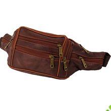 一件代发复古男士手机围腰包加大牛皮生意收银包户外运动跑步包