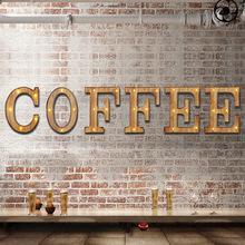 复古led字母数字墙壁挂件 木制字母?#25340;?#24847;木质工艺品壁饰挂件批发
