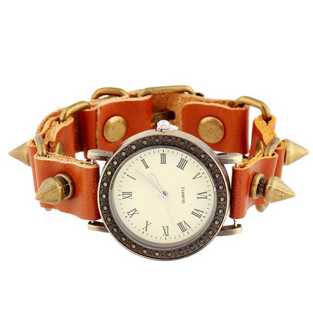 厂家直销真皮手表 热销复古子弹头手链表 复古手表 流行男士表