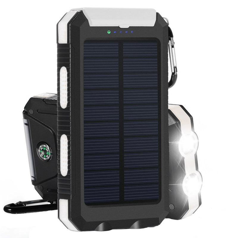 100000mah camping powerbank solar externe zusatzakku. Black Bedroom Furniture Sets. Home Design Ideas