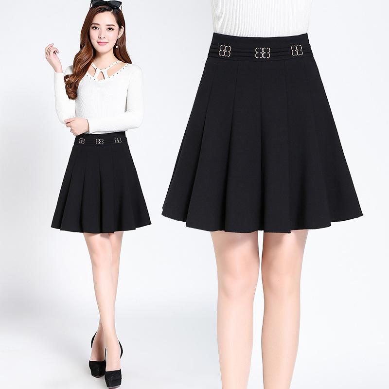一件代发中年女士新款半身裙中老年女装秋冬妈妈装半裙中年女短裙