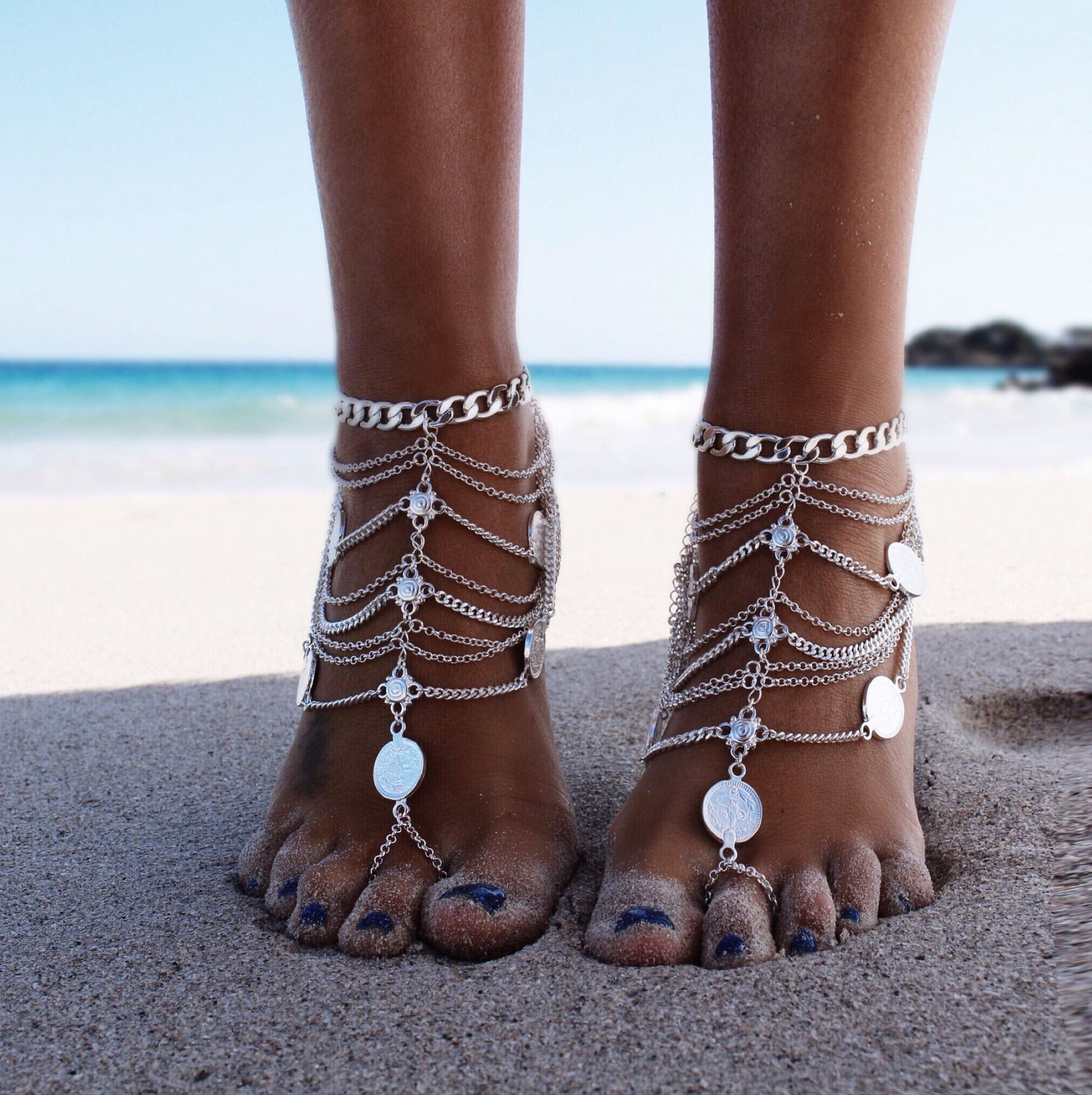 Fashion Sexy Silver Anklet Chain Ankle Bracelet Foot -1805
