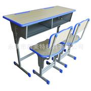 学生课桌椅厂家直销加厚双人单人学校辅导班中小学生升降课桌特价