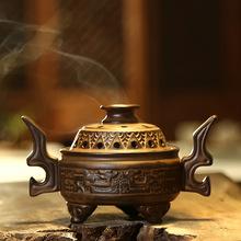御香堂陶瓷盤香爐禮盒包裝 香道祥龍紋室內居家熏香爐復古擺件