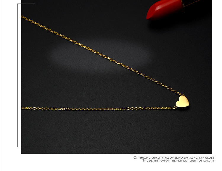Titanium&Stainless Steel Korea Sweetheart necklace  (Mini heart rose alloy) NHOK0224-Mini-heart-rose-alloy