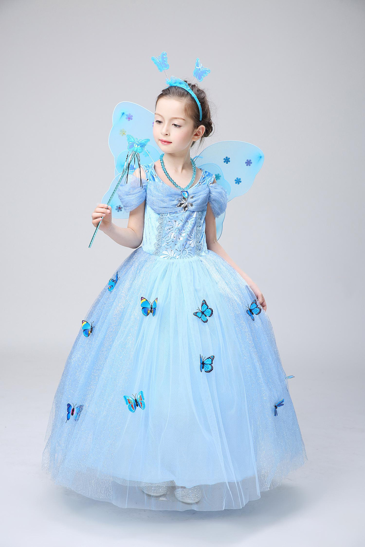 Disney girls frozen princess anna elsa queen cosplay costume party formal dress ebay - Princesse anna et elsa ...