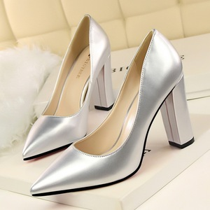 European and American fashion contracted style high-heeled shoes