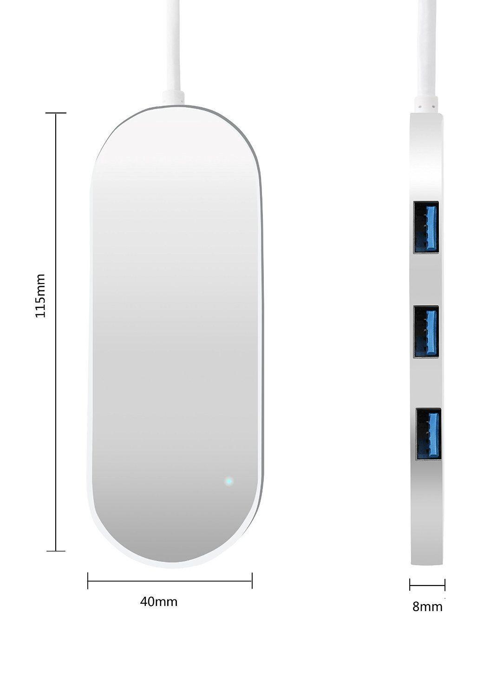 USB3.0HUB USB3.0四口集线器 超高速 3.0HUB全铝合金材料