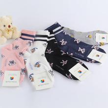 新款韓國襪子進口秋冬卡通動物圖案保暖吸汗韓國原單中筒女襪批發