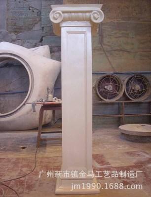 厂家直销俄罗斯台柱 大型玻璃钢圆柱浮雕 户外罗马柱园林景观雕塑