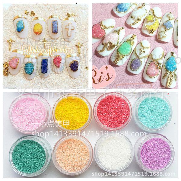 微水晶石粒-糖果色美甲饰品 日本松田阳子晶石款 同款(细粒)