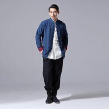 2020冬款男式上衣 时尚民族风 加绒保暖休闲款 对襟衣
