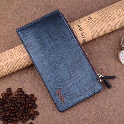Người đàn ông mới đa chức năng thời trang ví thẻ gói một gói đa- thẻ đôi dây kéo ví cổ phiếu