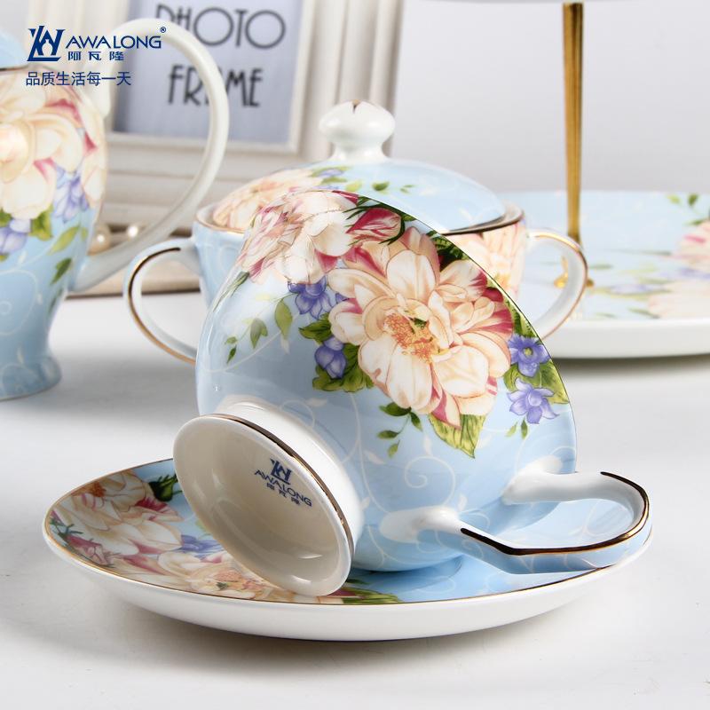 阿瓦隆欧式骨瓷咖啡杯套装陶瓷英式下午茶杯情侣杯子淘宝热卖爆款