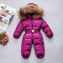歐美新款童裝嬰兒寶寶羽絨服戶外外出加厚保暖羽絨服超大毛領