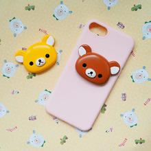 树脂超大版卡通可爱小熊头 diy素材奶油手机壳材料 包包装饰配件