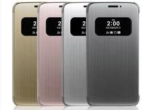 现货-新款LG G5原装皮套智能视窗纤薄拉丝 G5手机壳 F700保护套