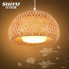 中式竹藝竹編吊燈小燈籠東南亞餐廳過道吊燈客廳茶室日式竹子燈