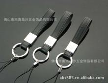 供应真皮钥匙扣,PU钥匙扣,电压LOGO皮革钥匙扣