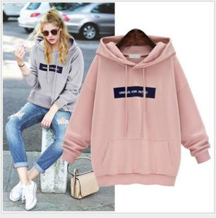 European and American foreign trade AliExpress 2021 new loose jacket mid-length student hooded plus size pullover sweater