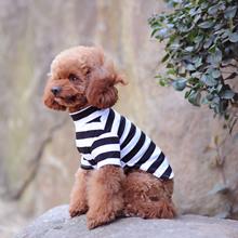工廠熱銷 爆款寵物衣服春夏秋 新款狗狗服裝 條紋小狗狗寵物棉T恤