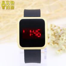 方形新款觸屏電子手表韓版潮男女果凍led夜光運動學生手表