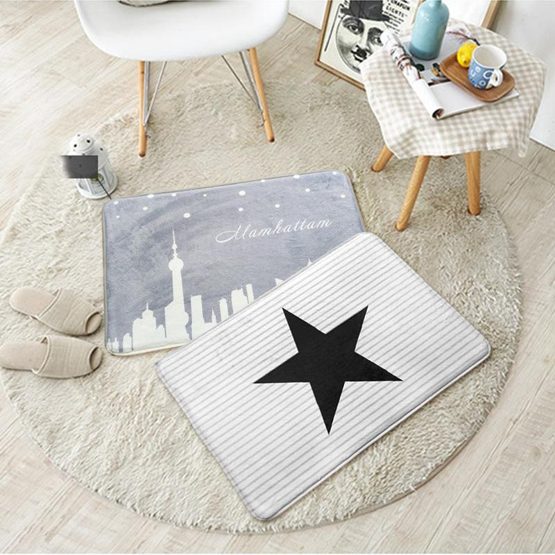創意韓式卡通造型地墊地毯門墊 居家創意踏墊臥室腳墊 批發混批