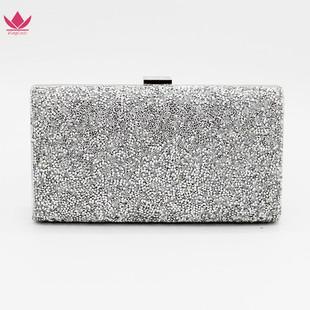 New Korean version of diamond-studded dinner bag, diamond clutch bag, European and American trendy diamond ladies banquet bag, rhinestone clutch bag